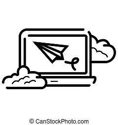 Laptop email send icon