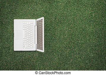 laptop, erba