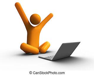 laptop, erfolg