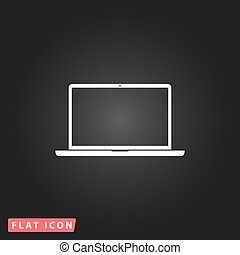 Laptop flat icon