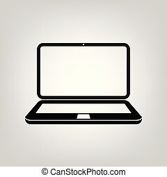 Laptop flat icon vector illustration computer symbol for graphic design, Web site, social media, UI, mobile upp