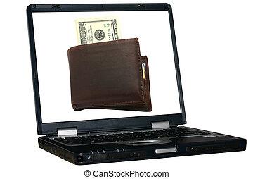 laptop, freigestellt