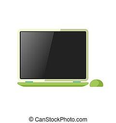 laptop, freigestellt, weiß
