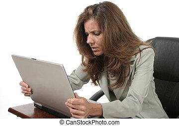 laptop, frustrierend, 4