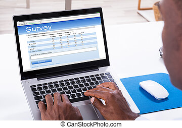 laptop, give en oversigt over, fyld, form, mand