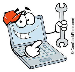 laptop, grabb, räcka ryck