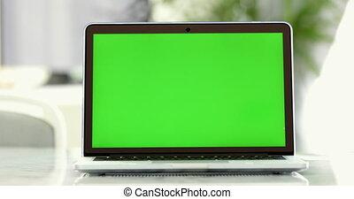 Laptop Green Screen
