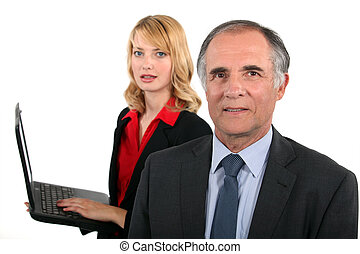 laptop, handlowy zaludniają