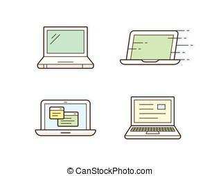 laptop, heiligenbilder
