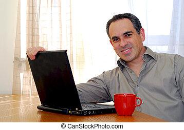 laptop, homem