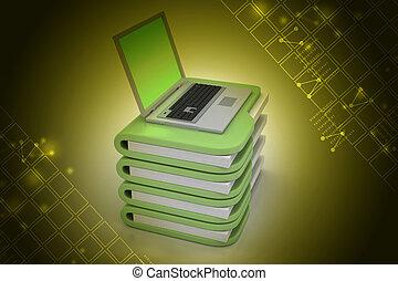 laptop, hos, fil chartek