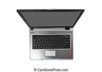 laptop, hos, sort, screen.