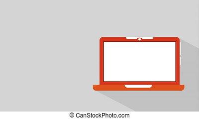 Laptop icon design, Video Animation