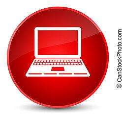 Laptop icon elegant red round button