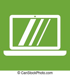 Laptop icon green