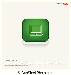 Laptop Icon Green Web Button