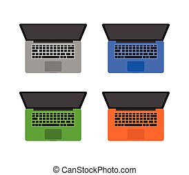 laptop icon illustrated in vector on white background