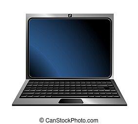 Laptop icon on a white background