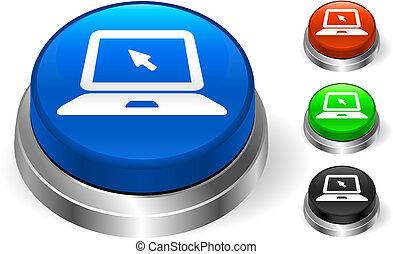 Laptop Icon on Internet Button