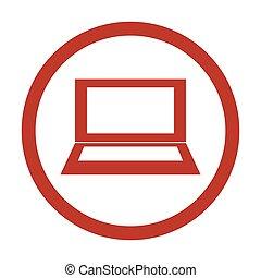 Laptop Icon on white background.