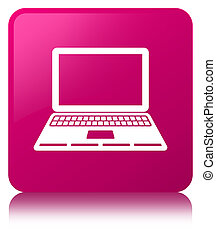Laptop icon pink square button