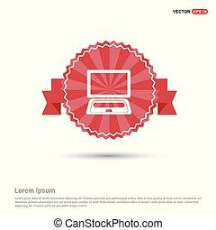 Laptop Icon - Red Ribbon banner