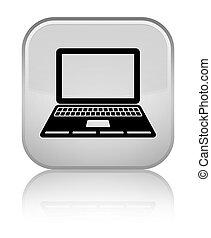 Laptop icon special white square button