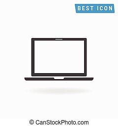 Laptop Icon, vector icon eps10.