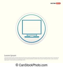 Laptop Icon - white circle button