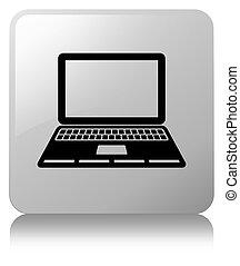 Laptop icon white square button