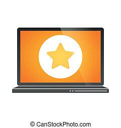 laptop, ikon