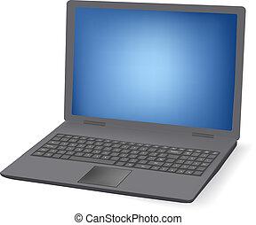 laptop., ilustração, para, seu, desig