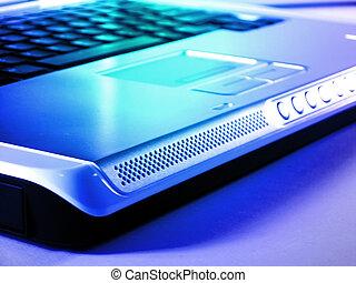 Laptop in blue tones
