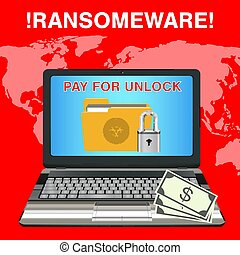 laptop infected ransomware virus pay for unlock data