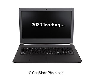 Laptop isolated - New Year - 2020