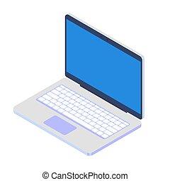 Laptop isolated on white background. Vector illustration. EPS 10.