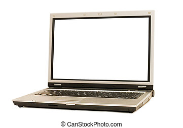 Laptop isolated on whte background
