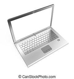 laptop, isolerat