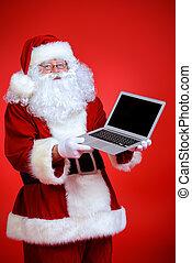 laptop, karácsony