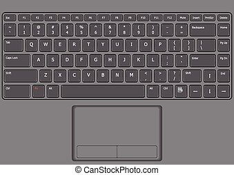 laptop keyboard layout clipart vector and illustration 330 laptop rh canstockphoto com laptop keyboard diagram laptop keyboard wiring diagram