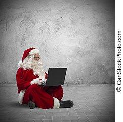 laptop, klaus, szent