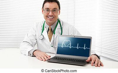 laptop komputer, doktor