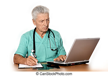 laptop, lavorativo, dottore