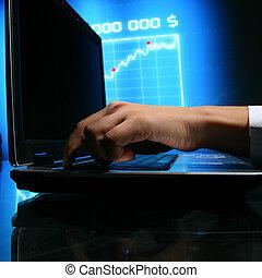laptop, lavoro, finanza