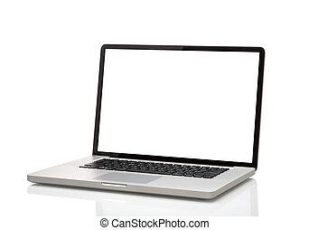 laptop, like macbook with blank