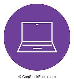 Laptop line icon.