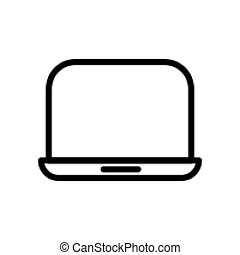 Laptop line icon vector illustration Isolated On white Background