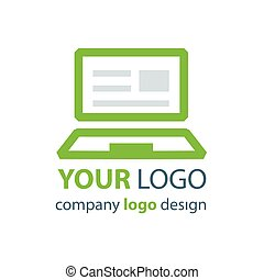 laptop logo green logo