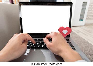 laptop, mani