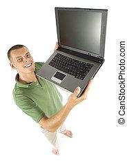 laptop, mann